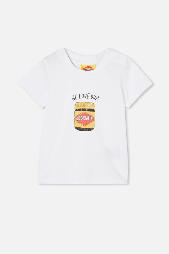Jamie Short Sleeve Tee-License, LCN VEG WHITE/WE LOVE OUR VEGEMITE