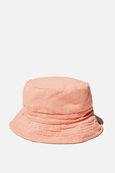 Reversible Bucket Hat, MUSK MELON STRIPE