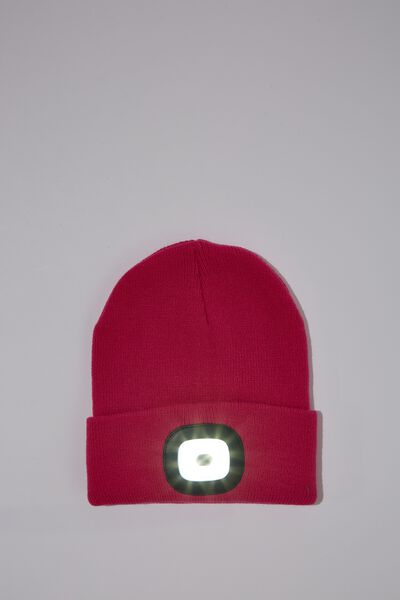 Light Up Beanie, PINK