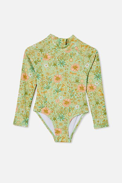 Lydia One Piece, SPEARMINT/GARDEN FLORAL