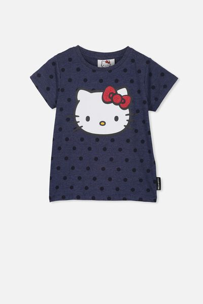 db2a3df70 Lux Short Sleeve Tee, LCN SAN PEACOAT MARLE SPOT/HELLO KITTY/SET IN