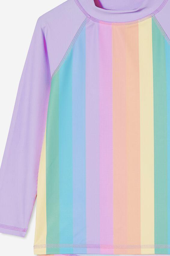 Hamilton Long Sleeve Rashie, DORSET RAINBOW STRIPE