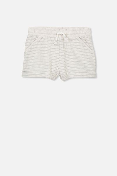 Nila Knit Short, SUMMER GREY MARLE/SILVER STRIPE