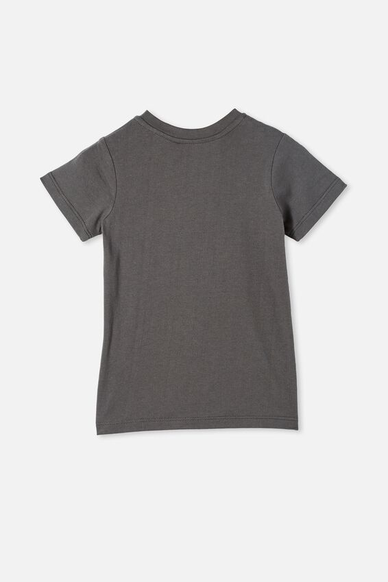 Jamie Short Sleeve Tee-License, LCN PER RABBIT GREY/ACDC FLAMES