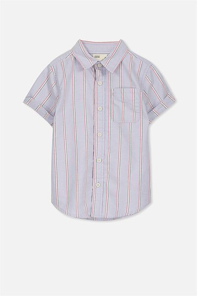 Jackson Short Sleeve Shirt, BLUE MULTI STRIPE OXFORD