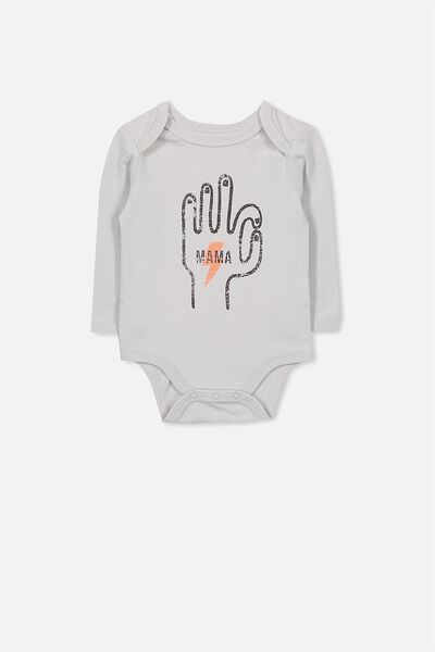 Mini Long Sleeve Bubby, WINTER GREY/MAMA