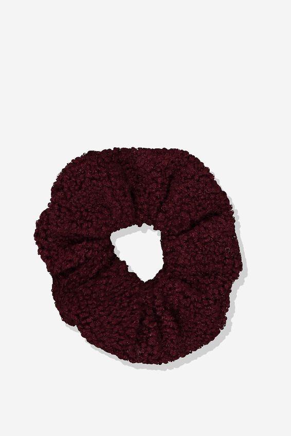 Scrunchie, TIBETAN RED/TEDDY