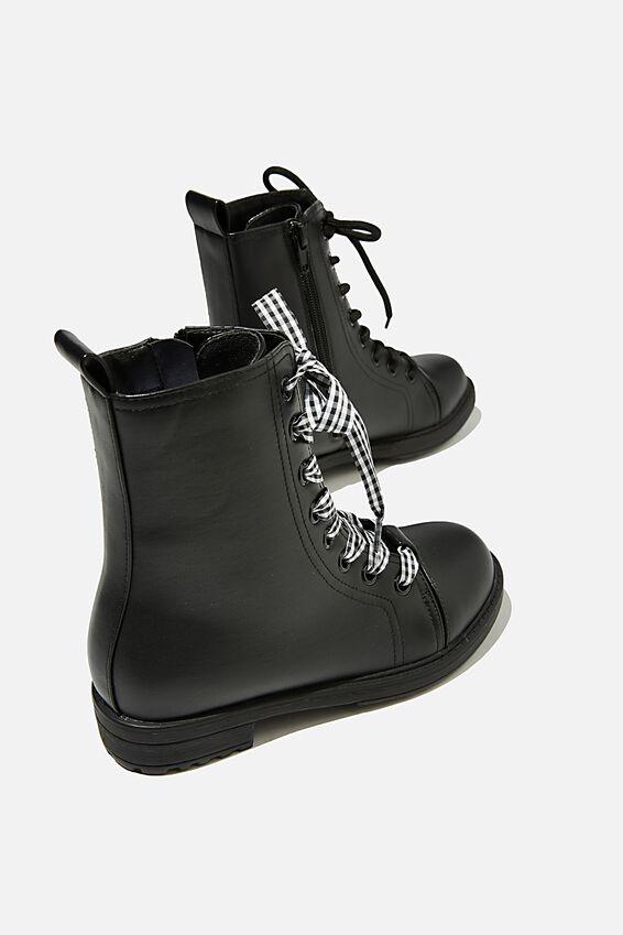 Classic Combat Boot, BLACK
