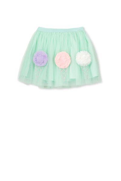 Trixiebelle Tulle Skirt, SEAGLASS/ICE CREAMS