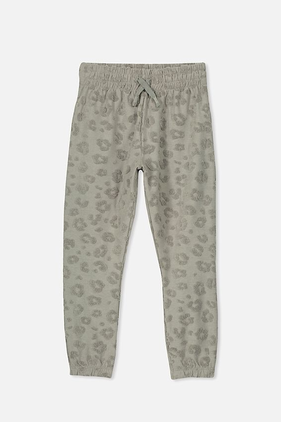 Keira Cuff Trackpant, SILVER SAGE/ANIMAL TEXTURE