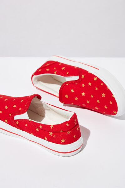 Classic Slip On, ENGINE RED/GOLD STAR