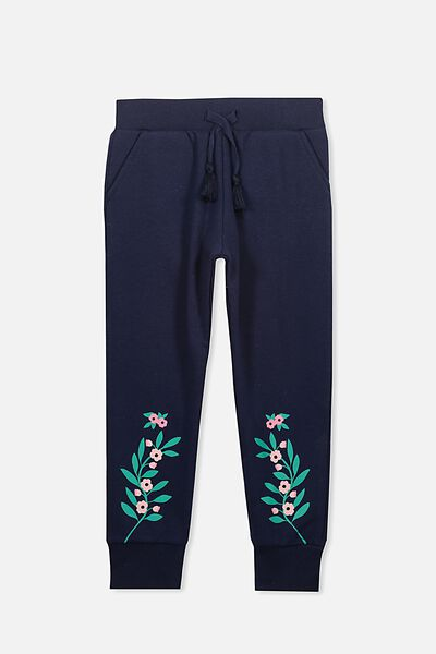 Kikii Trackpant, PEACOAT/FLORAL PLACEMENT