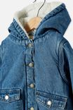 Dua Denim Hooded Jacket, WEEKEND WASH