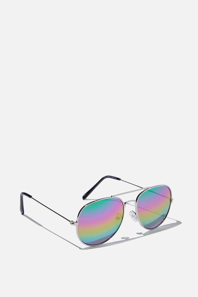 Pilot Sunglasses, RAINBOW LENS