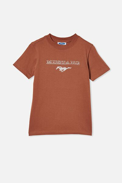 Co-Lab Short Sleeve Tee, LCN FOR TERRACOTTA/FORD – MUSTANG