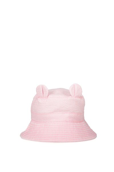 Baby Bucket Hat, PINK EARS