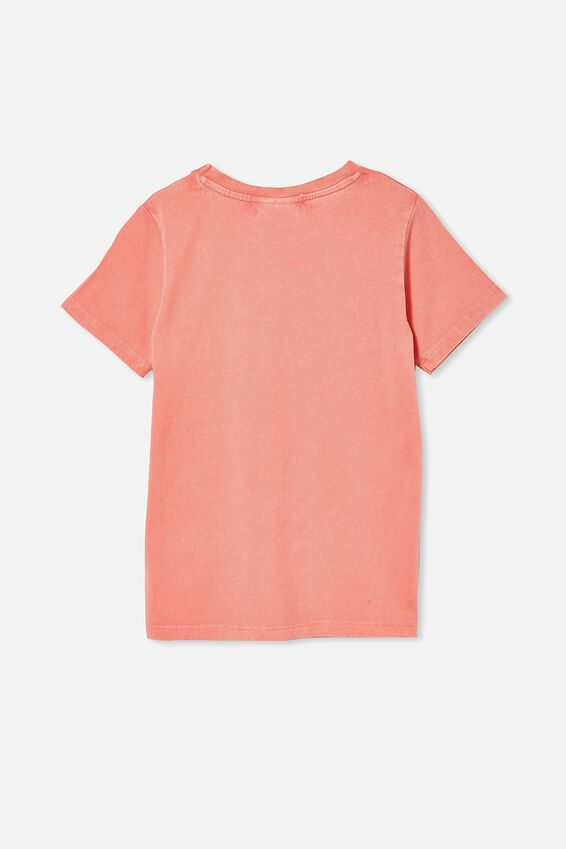 License Short Sleeve Tee, LCN WB TOM AND JERRY/RETRO CORAL WASH