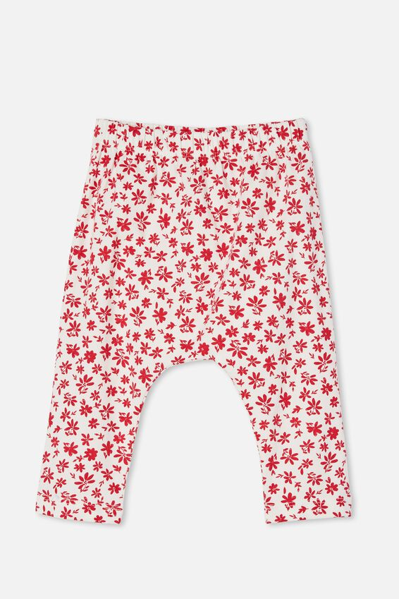 The Legging, VANILLA/LUCKY RED TAYLOR FLORAL