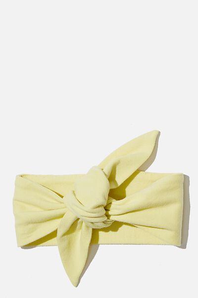 The Tie Headband, LEMON DROP