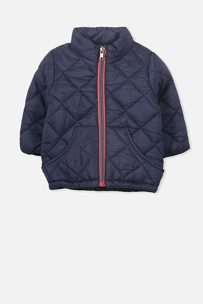 Toby Bomber Jacket, WASHED NAVY