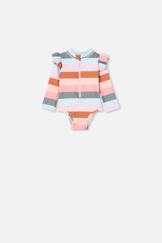 Lucy Long Sleeve Swimsuit, GEMMA STRIPE