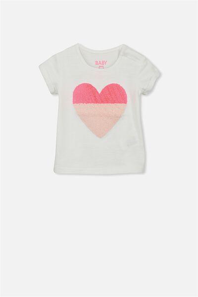 Ginger Ss Tee, VANILLA/HEART