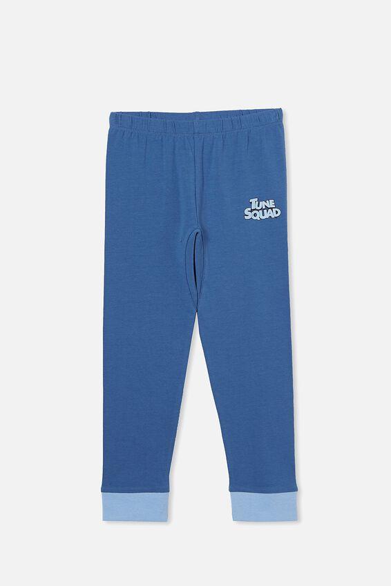Space Jam Orlando Long Sleeve Pyjama Set, LCN WB TUNE SQUAD LEBRON PETTY BLUE