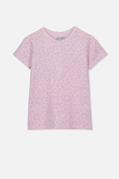 Lux Short Sleeve Tee, LCN DIS LAVENDER FOG/LION KING SIMBA LEOPARD/MAX
