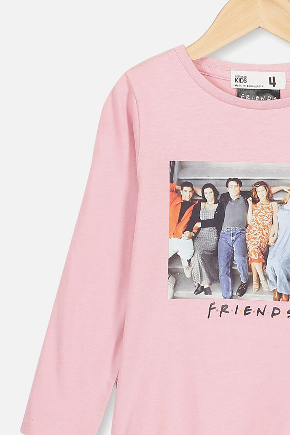 Lux Ls Tee, LCN WB MARSHMALLOW FRIENDS PHOTO
