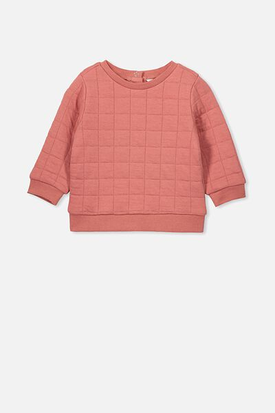 Scout Quilted Sweater, RUSTY BLUSH
