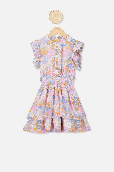 Addie Sleeveless Dress, CALI PINK MEADOW FLORAL