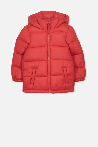 Frankie Puffer Jacket, RALLY RED