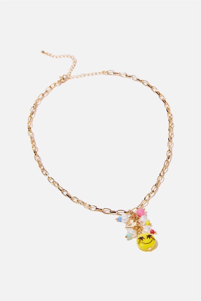 Kids Fashion Jewellery Necklace, SMILEY RAINBOW BEAD
