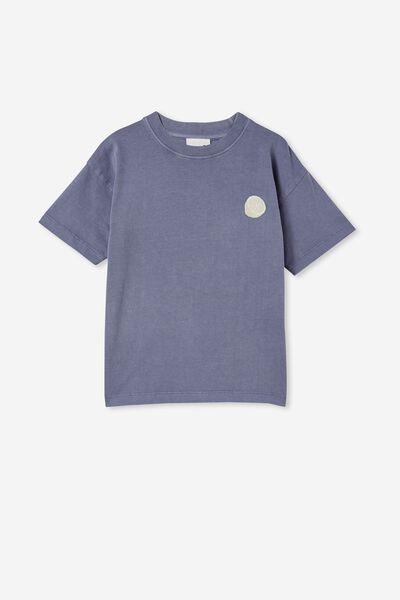 Scout Drop Shoulder Short Sleeve Tee, STEEL / LEMON