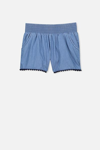 Ella Short, MID BLUE CHAMBRAY