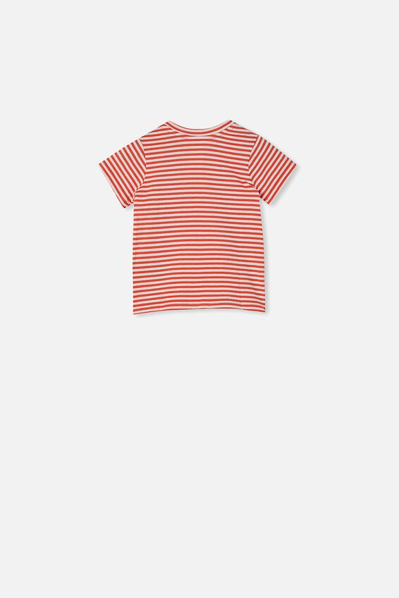 Jamie Short Sleeve Tee, CHRIS STRIPE RED ORANGE/VANILLA