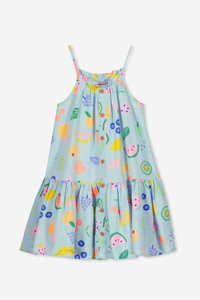 Lennie Dress, AQUA TINT/FRUIT SALAD