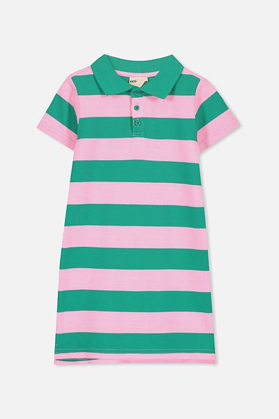 Blaire Polo Dress, DEEP GREEN/PERRY STRIPE
