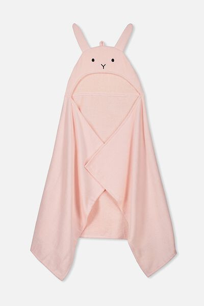 Baby Snuggle Towel, PINK RABBIT