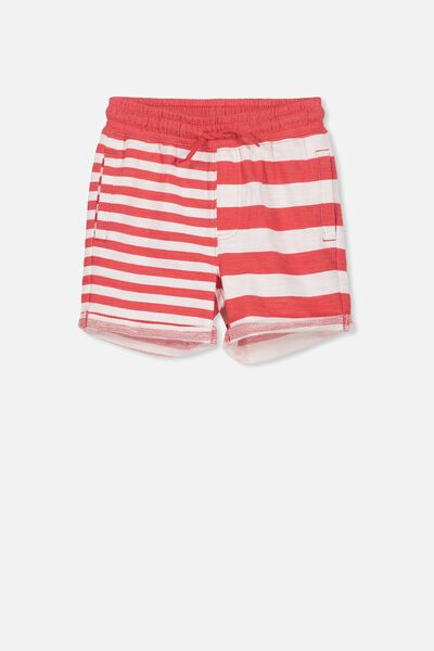 Henry Slouch Short, SOPHIE RED/MIXED STRIPES