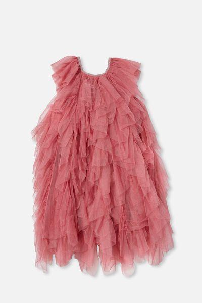 Alicia Dress Up Dress, VERY BERRY