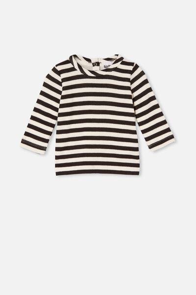 Lenny Long Sleeve Top, HANNAH STRIPE BLACK/WHITE