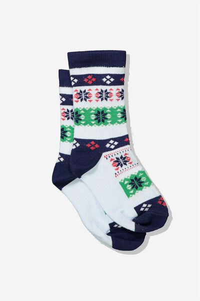 Fashion Kooky Socks, B FAIRISLE