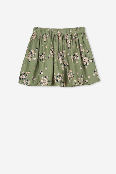 Ellie Flippy Skirt, FOUR LEAF CLOVER FLORAL