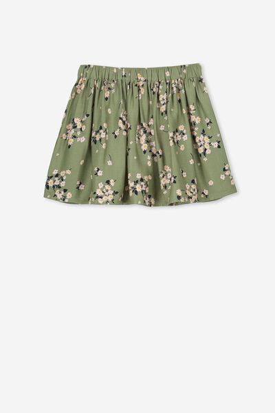 Ellie Flippy Skirt, FOUR LEAF CLOVER FLORAL