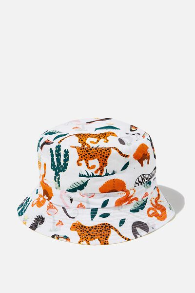 License Bucket Hat, MICKEY/BONFIRE RED