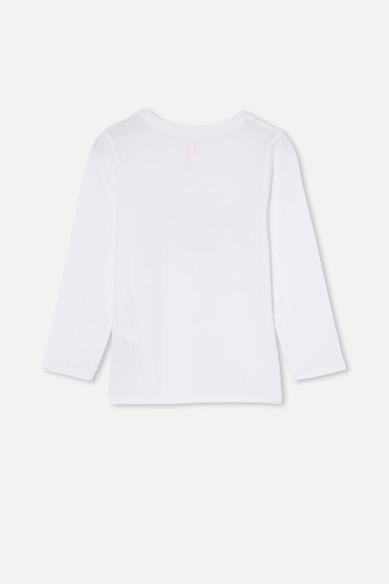 Penelope Long Sleeve Tee, WHITE/WATERCOLOUR HEART