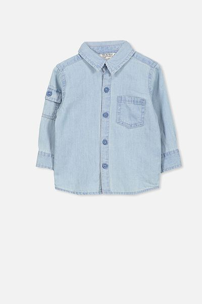 Zac Long Sleeve Shirt, CHAMBRAY BLUE