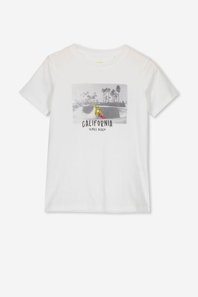 Max Short Sleeve Tee, VINTAGE WHITE/CALIFORNIA BEACH
