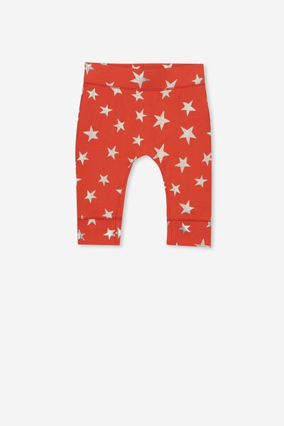 Mini Legging, ENGINE RED/GOLD STARS